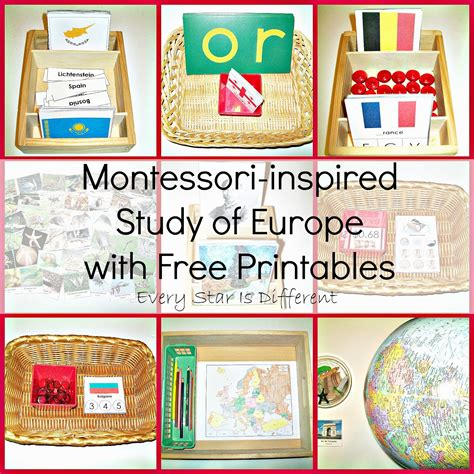 montessori printables uk montessori inspired study of europe w free printables