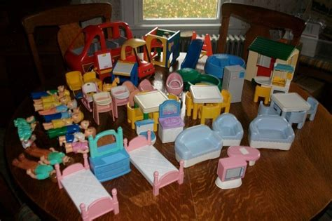 little tikes doll house furniture huge lot vintage little tikes dollhouse items furniture