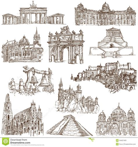 noted of the world on sts a collection of sts issued by 95 countries in the world books architecture 4 stock photos image 34427403