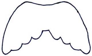 angel wings template free clipart best