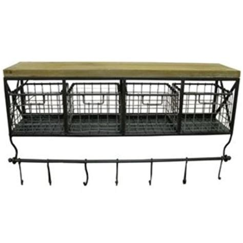 Black Metal & Wood Shelf with Baskets & from Hobby Lobby