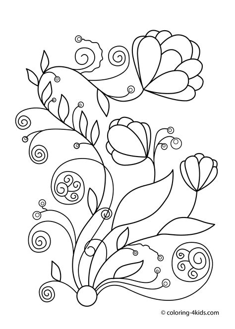 free coloring pictures of spring flowers spring flowers coloring pages for kids printable free