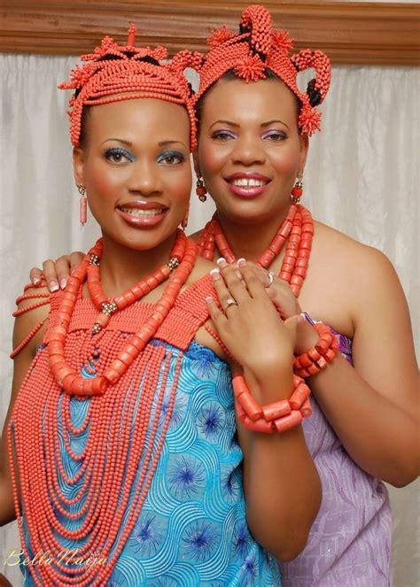 necklaces on traditional nigerian attires beautiful nigerian brides from bella naija weddings