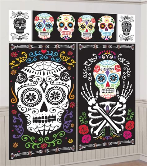 day of the dead bedroom day of the dead room decoration set by amscan 67387 karnival costumes