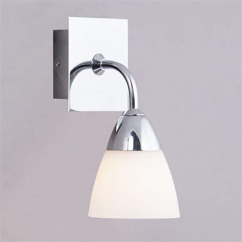 Contemporary Bathroom Wall Light Fixtures Aqua Glass Bathroom Wall Light 1 Light Polished Chrome