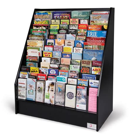 floor standing literature rack advanced literature