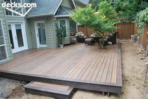 simple backyard decks simple composite with one step exactly what i m thinking
