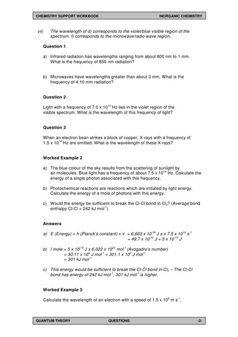 Light Waves Chem Worksheet 5 1 Answers by Light Waves Chem Worksheet 5 1 Answers Mouthtoears