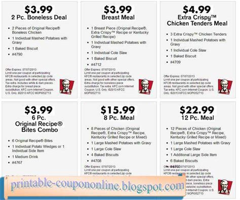 printable kfc coupons printable coupons 2018 kfc coupons