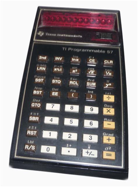 calculator history ti 57 programmable calculator computing history