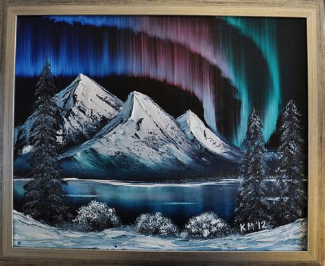 Northern Lights Painting Northern Lights Bob Ross Painting Flickr Photo Sharing