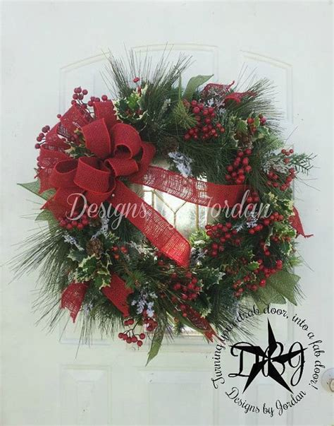 simple elegance evergreen christmas wreath winter wreath