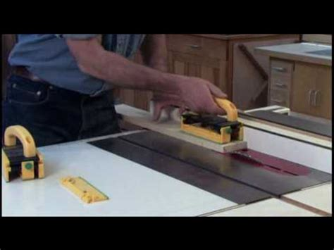 table saw bevel cut bevel ripping on a table saw safely grr ripper youtube