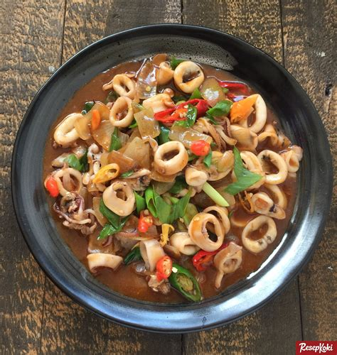 Baso Ayam Saus Padang cumi saus padang pedas favorit resep resepkoki