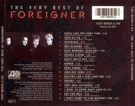best of foreigner car 225 tula trasera de foreigner the best of foreigner