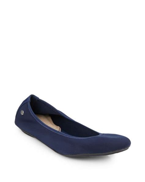 hush puppies ballet flats hush puppies chaste ballet flats in blue lyst