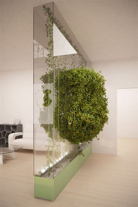 Home And Garden Interior Design green partition cleans the air in your home tuvie