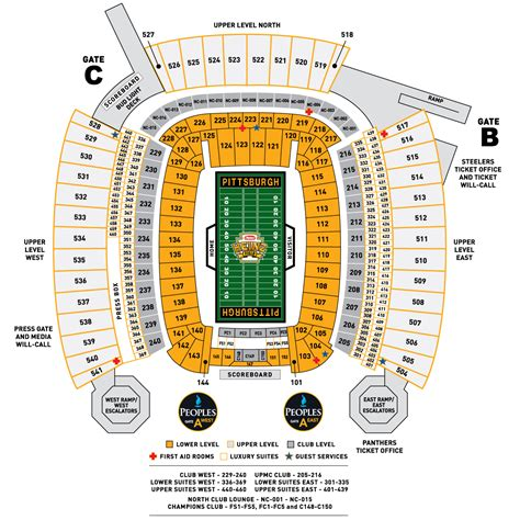 field seating chart heinz field seating chart thesteelersfans