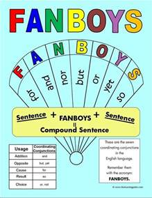having this quot fanboys quot poster in the classroom will help