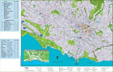 lausanne city map lausanne hotels and sightseeings map