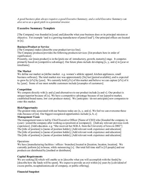 statement that summarizes pattern in nature startup executive summary template