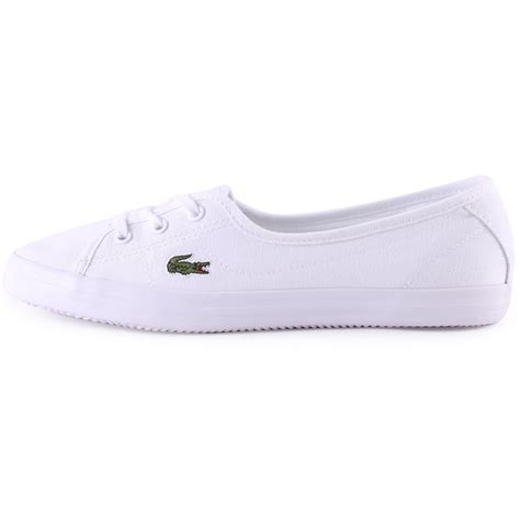 womens lacoste sneakers lacoste ziane chunky womens canvas trainers in white white