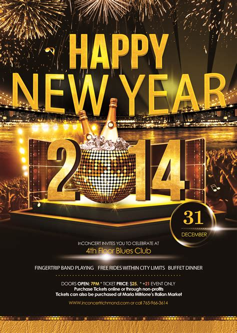 new year flyer happy new year flyer inconcert2014 richmond indiana