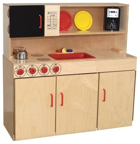 childrens wooden kitchen furniture kid s play 5 in 1 kitchen center contemporary
