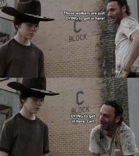 Walking Dead Rick Meme - the walking dead 23 of the funniest rick carl dad