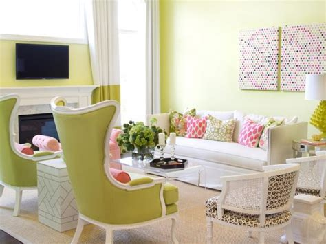 pink and green living room photo page hgtv
