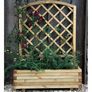 forest garden toulouse planter curved integrated trellis