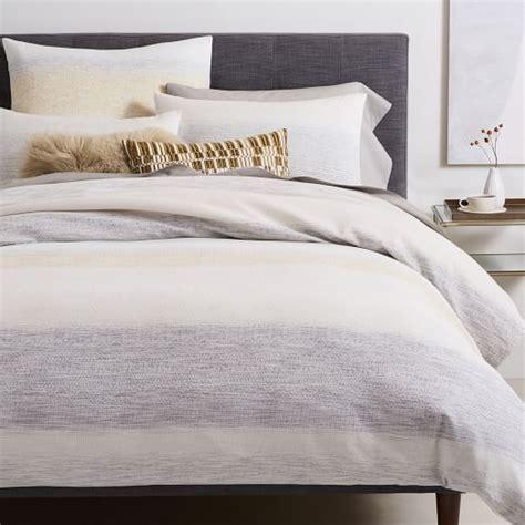 West Elm Stripe Duvet Cover by Linen Cotton Jacquard Stripe Duvet Cover Shams West Elm