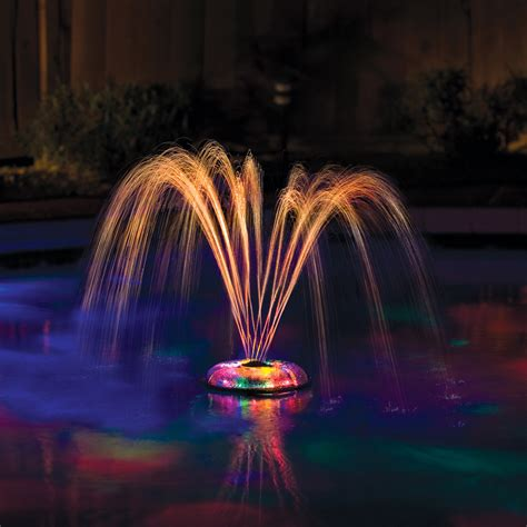 pool fountain with lights et make great american small underwater floating light