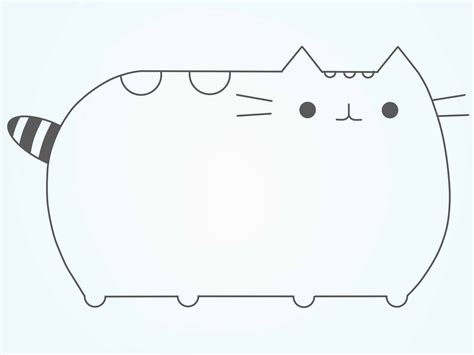 draw pusheen  cat  steps  pictures wikihow
