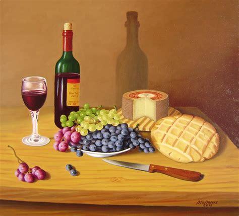 imagenes de uvas y pan la pintura de ma 241 anes uvas queso pan y vino