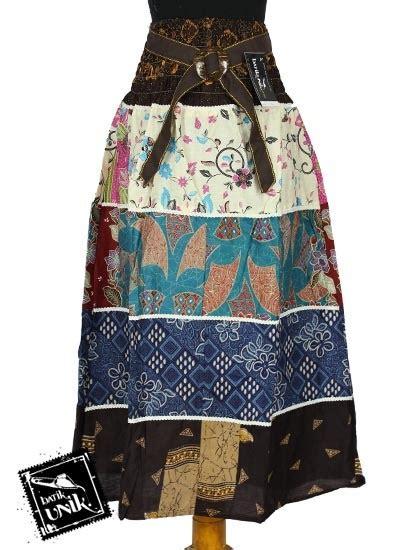 Rok Katun Rok Panjang Rok baju batik rok panjang katun motif perca bawahan rok