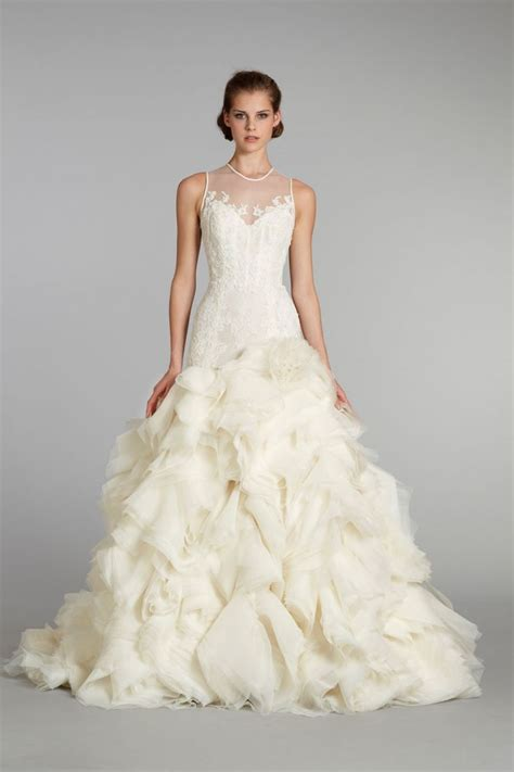 Wedding Gowns by Favorite Illusion Neckline Wedding Gowns Of 2013 Onewed