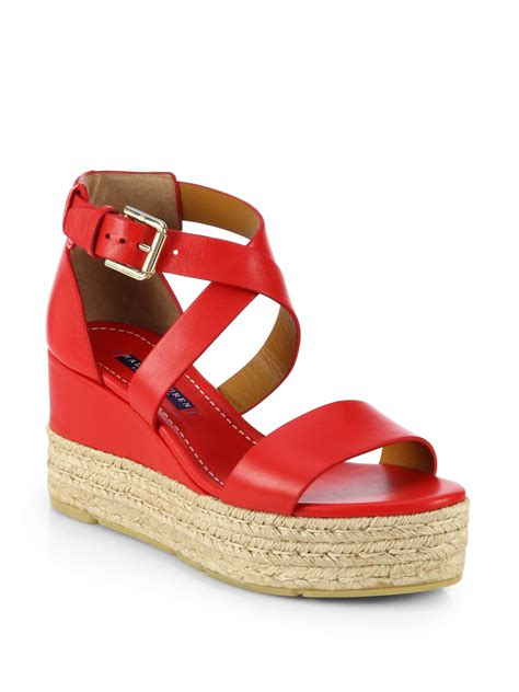 ralph wedge sandals ralph collection esabel leather espadrille wedge