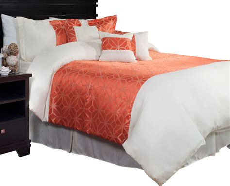 morgan 7 piece comforter set by lavish home contemporary