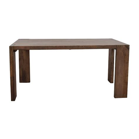 cb2 dining table 76 elm elm terra dining table tables