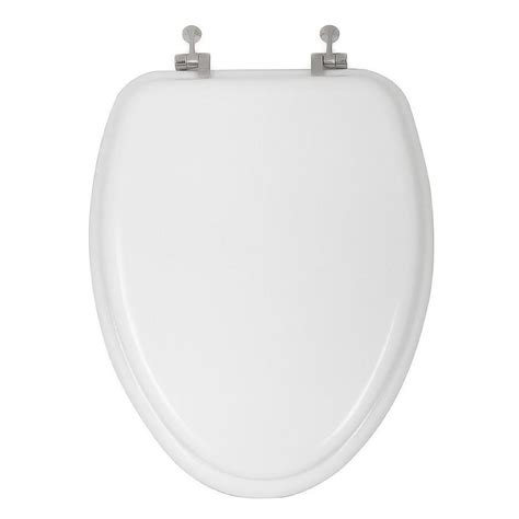 oblong toilet seat lowes shop aquasource white wood elongated toilet seat at lowes
