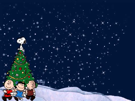 peanuts animated christmas images brown wallpapers desktop wallpaper cave