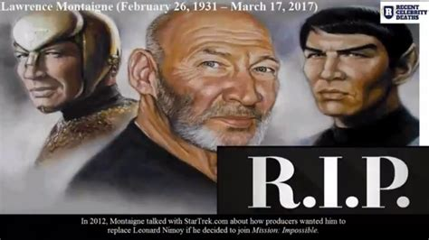 what celebrity died today celebrity deaths who died today r i p lawrence montaigne
