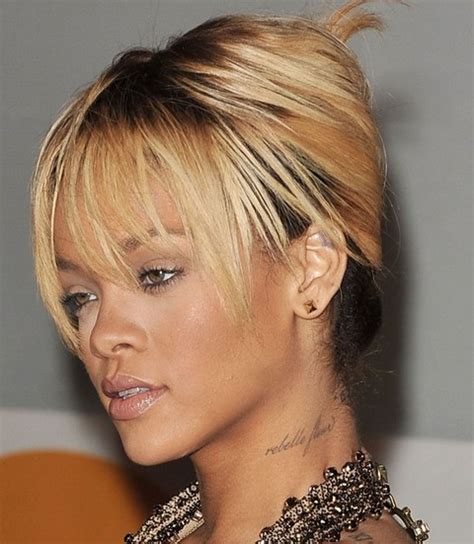 wispy and tapered ends hairstyle rihanna hairstyles gallery 28 rihanna hair pictures