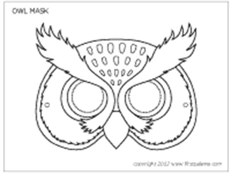 owl mask | printable templates & coloring pages