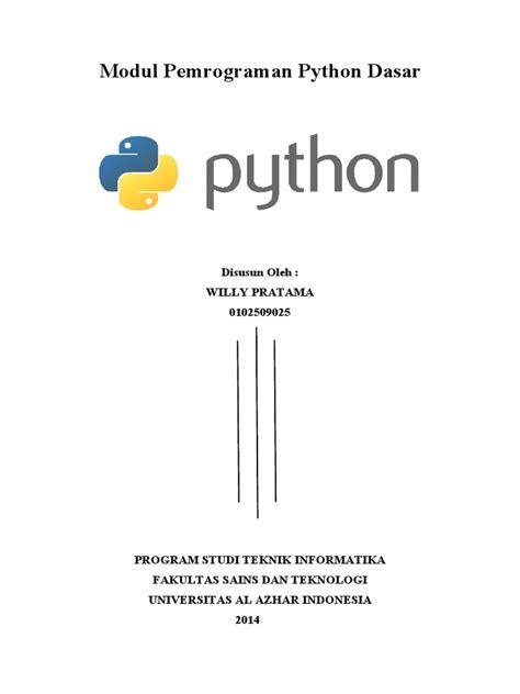Dasar Pemrograman Phyton modul pemrograman python dasar