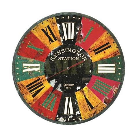 31 Jam Dinding Mdf Retro Style Motif Kayu Plate jual vintage classic design motif plate retro 05 jam dinding kayu 30cm harga
