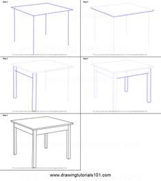 How To Draw A Desk Step By Step by How To Draw A Table Printable Step By Step Drawing Sheet