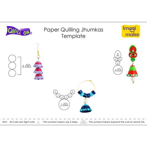 quilling template paper quilling jhumkas tutorial quill on