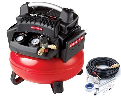 Craftsman 6 Gallon 1.1 HP Oil Free Pancake Compressor w/ Hose & Accessory Kit